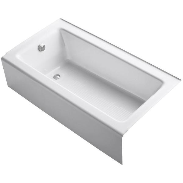 Shop Kohler Bellwether 5-foot Left-hand Drain Cast-iron Soaking Tub ...