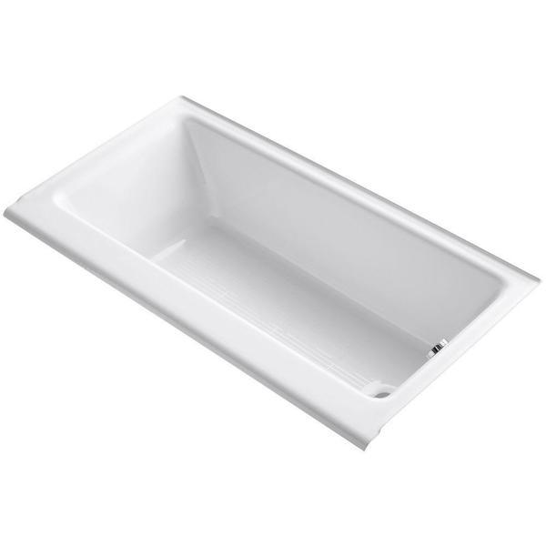 Kohler Highbridge 5 Foot Right Hand Drain Cast Iron Bathtub (White)