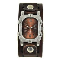 Nemesis Brown 'Rugged' Unisex Watch with Dark Brown Basic Leather Cuff Band