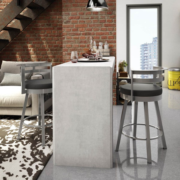 Amisco Render 30 Inch Swivel Metal Barstool Free
