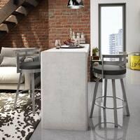 Clay Alder Home High Bridge 30-inch Swivel Metal Barstool
