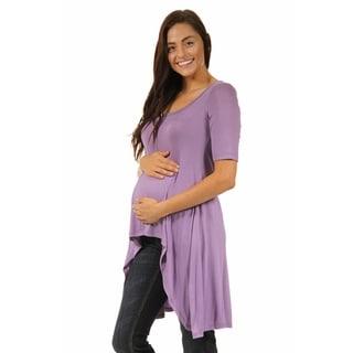 24/7 Comfort Apparel Women's Extra Long Maternity Tunic Top