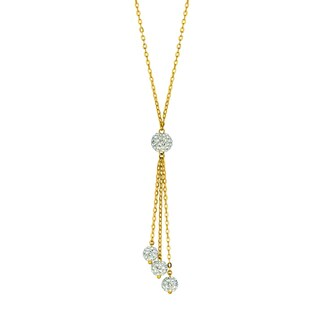 14k Yellow Gold 17-inch 1.6mm Cable Chain Lariat Necklace