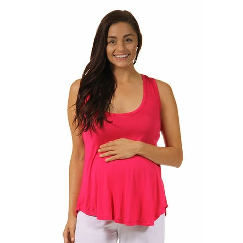 24/7 Comfort Apparel Women's Maternity Racerback Tunic