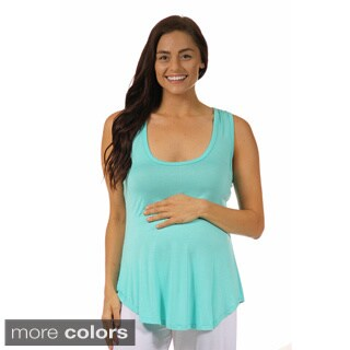 24/7 Comfort Apparel Women's Maternity Racerback Tunic