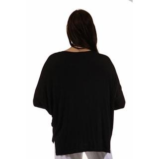 24/7 Comfort Apparel Women's Maternity Oversized Dolman Top