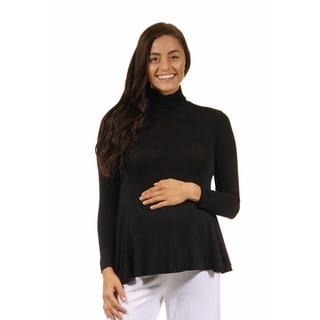 24/7 Comfort Apparel Women's Turtleneck Maternity Sweater