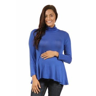 24/7 Comfort Apparel Women's Turtleneck Maternity Sweater