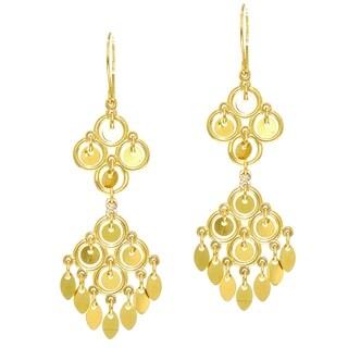 14k Yellow Gold 2-tier Chandelier Earrings