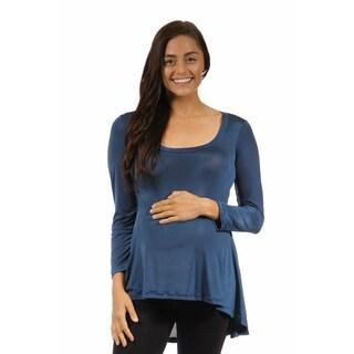 24/7 Comfort Apparel Women's Long Sleeve High-low Maternity Tunic Top|https://ak1.ostkcdn.com/images/products/10208298/P17331059.jpg?_ostk_perf_=percv&impolicy=medium