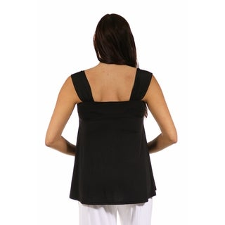 24/7 Comfort Apparel Women's Side Maternity Tie Tunic Sleeveless Tank Top