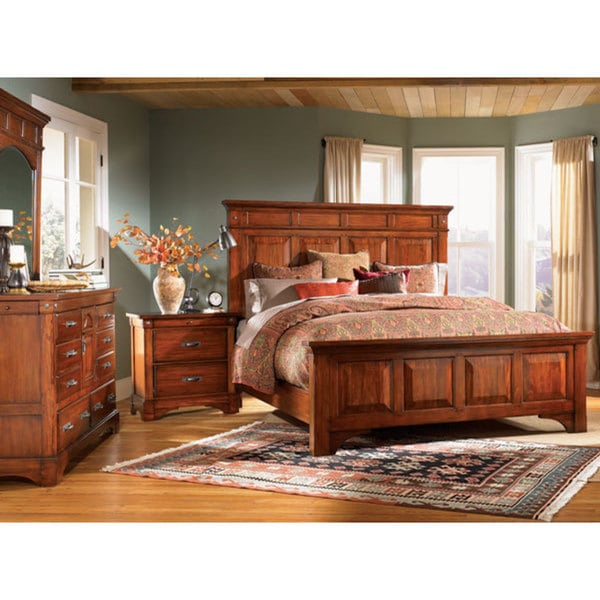 simply solid ike solid wood 6 piece king bedroom
