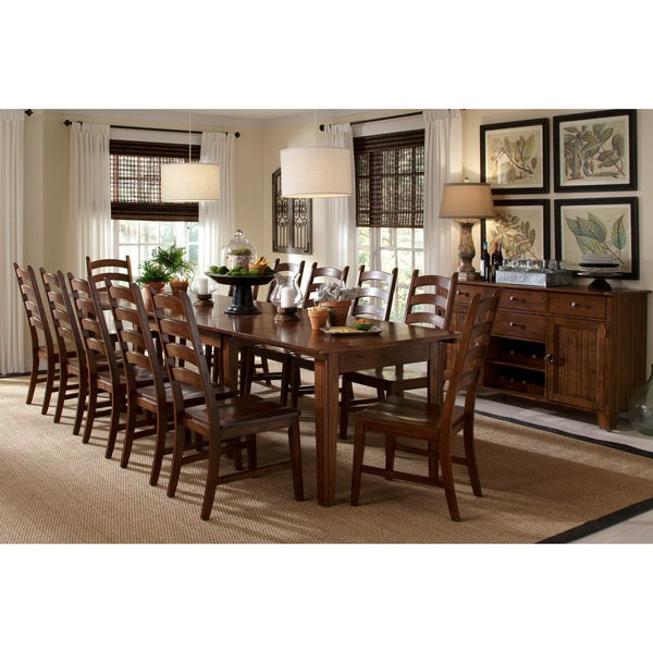 Shop Auden Distressed Solid Wood 14 Piece Dining Collection Free