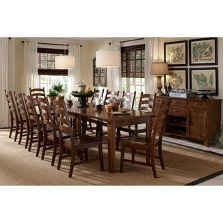 Wonderful Auden Distressed Solid Wood 14 Piece Dining Collection