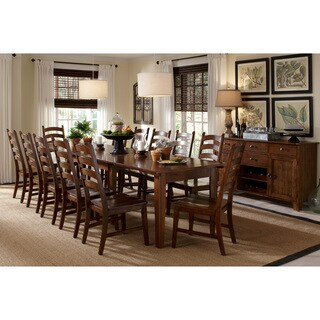 Captivating Auden Distressed Solid Wood 14 Piece Dining Collection