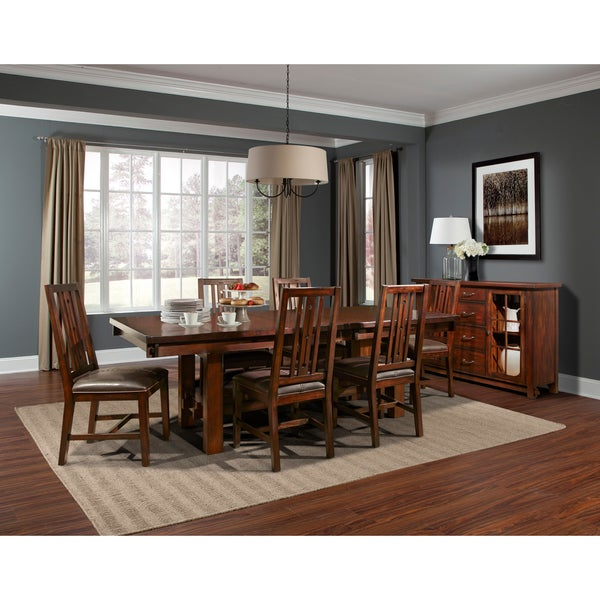 simply solid taylor solid wood 11-piece dining collection - free