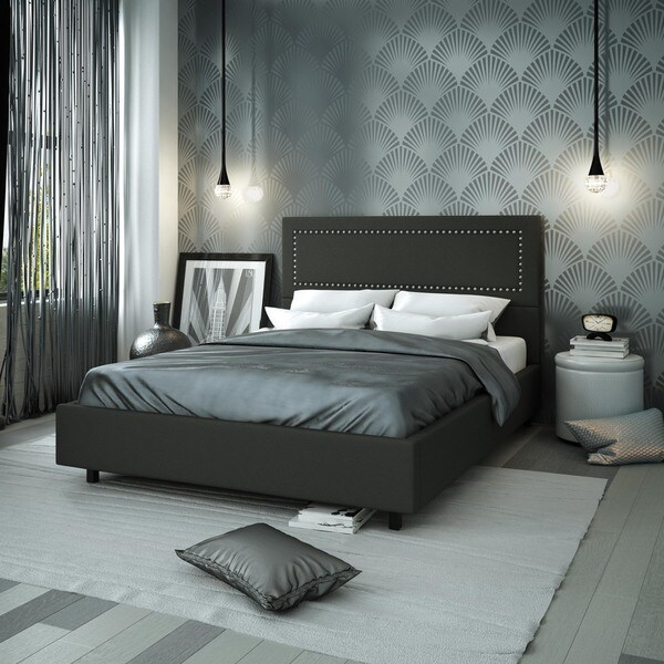 54 Best Images About Complete Bedroom Set Ups On Pinterest: Shop Amisco Crossway 54-inch Full-size Upholstered Bed