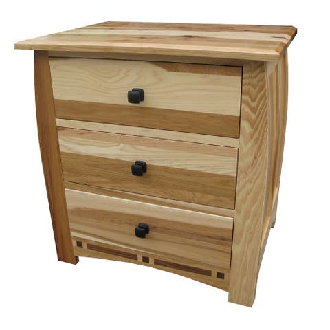 Simply Solid Emilian Solid Wood Nightstand with Three Drawers