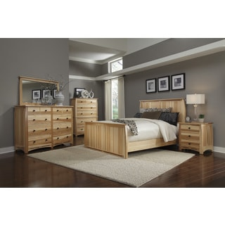 Simply Solid Emilian Solid Wood Panel Bed