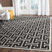 Safavieh Indoor/ Outdoor Amherst Anthracite/ Light Grey Rug (9' x 12')