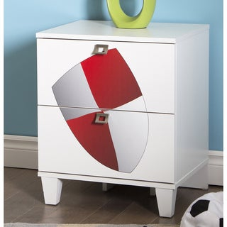 South Shore Andy 2-drawer Night Stand with Shield Ottograff