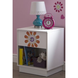 South Shore Joy 1-drawer Night Stand with Flower Ottograff