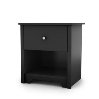 South Shore Vito 1-drawer Night Stand (Option: Black - Black Finish)