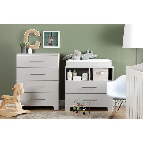 South Shore Cuddly Changing Table With Removable Changing Station   Free  Shipping Today   Overstock.com   17331380