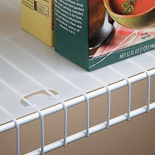 Clear Plastic 16-inch x 10-foot Roll Shelf Liner for Wire Shelving