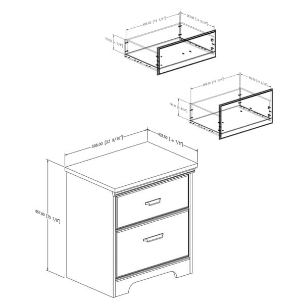 south shore versa nightstand free shipping today