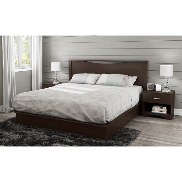 South Shore Step One Chocolate  Inch King Platform Bed