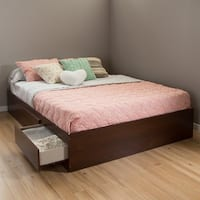 South Shore Vito Mates Queen Bed with 2 Drawers