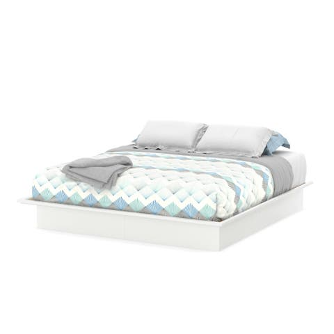 South Shore Step One Platform Bed with Mouldings - 82'' (w) x 82'' (d) x 9.8'' (h)