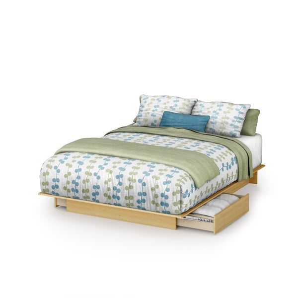 South Shore Step One Contemporary Queen Platform Bed