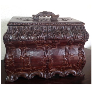 Mystique Mahogany Carved Jewelry Box (Indonesia)