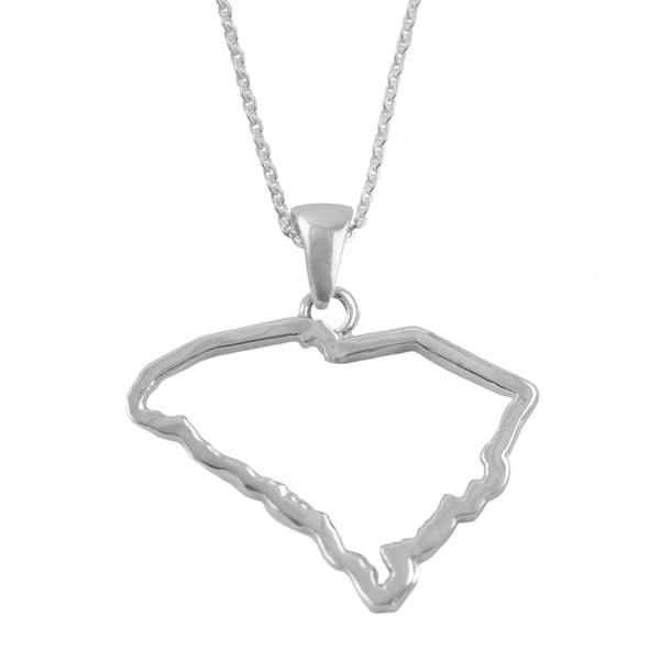 South Carolina State Outline Necklace