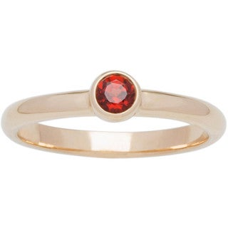 10k Yellow Gold Round Bezel Set Birthstone Ring