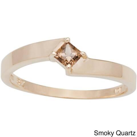 10k Yellow Gold Princess-cut Birthstone Ring