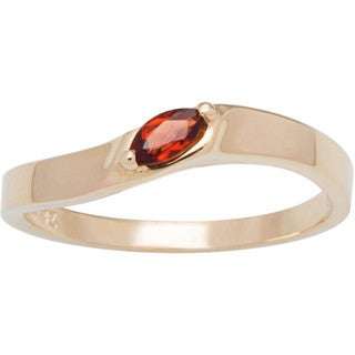 10k Yellow Gold Marquise-cut Birthstone Ring