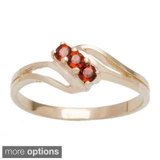 10k Yellow Gold 3-stone Birthstone Ring (5 options available)