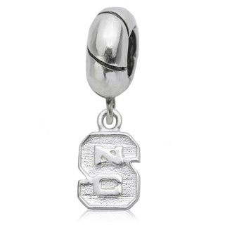 NC State Sterling Silver Charm Bead