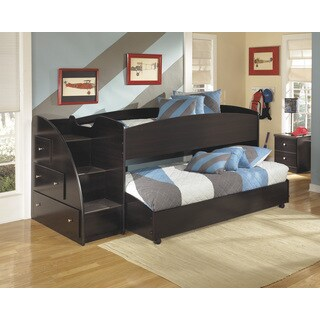 Signauture Design by Ashley Embrace Merlot Twin-size Caster Bed Set