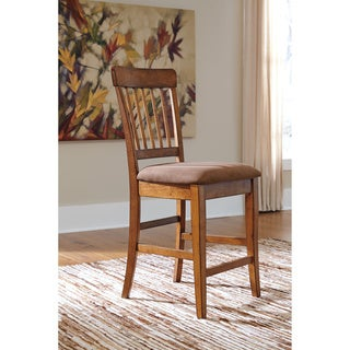Signature Design by Ashley Berlmine Rustic Brown Barstool (Set of 2)