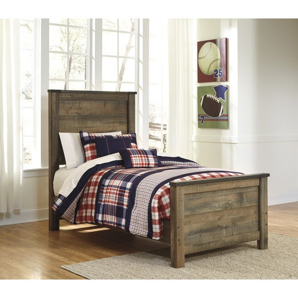 Shop Trinell Brown Twin Size Bed Frame Overstock 10208758