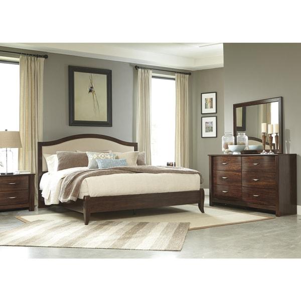 signature design by ashley corraya brown kingsize bed