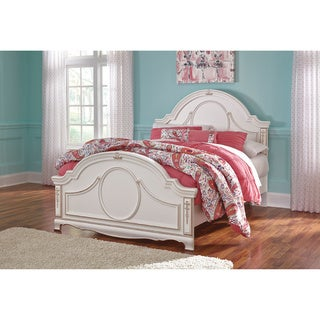 Signature Design by Ashley Korabella White Full-size Panel Bed Frame