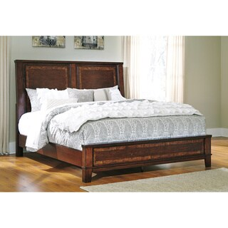 Signature Design by Ashley Dawlyn Brown California King-size Upholstered Bed Frame