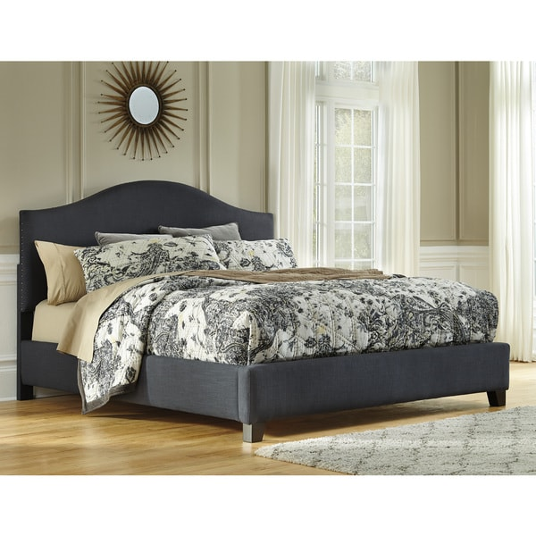 signature design by ashley kasidon grey queen size upholstered bed frame - Upholstered Bed Frame