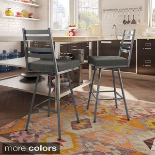 Amisco Stage 30-inch Swivel Metal Barstool