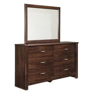 Signature Design by Ashley Corraya Brown Dresser and Mirror